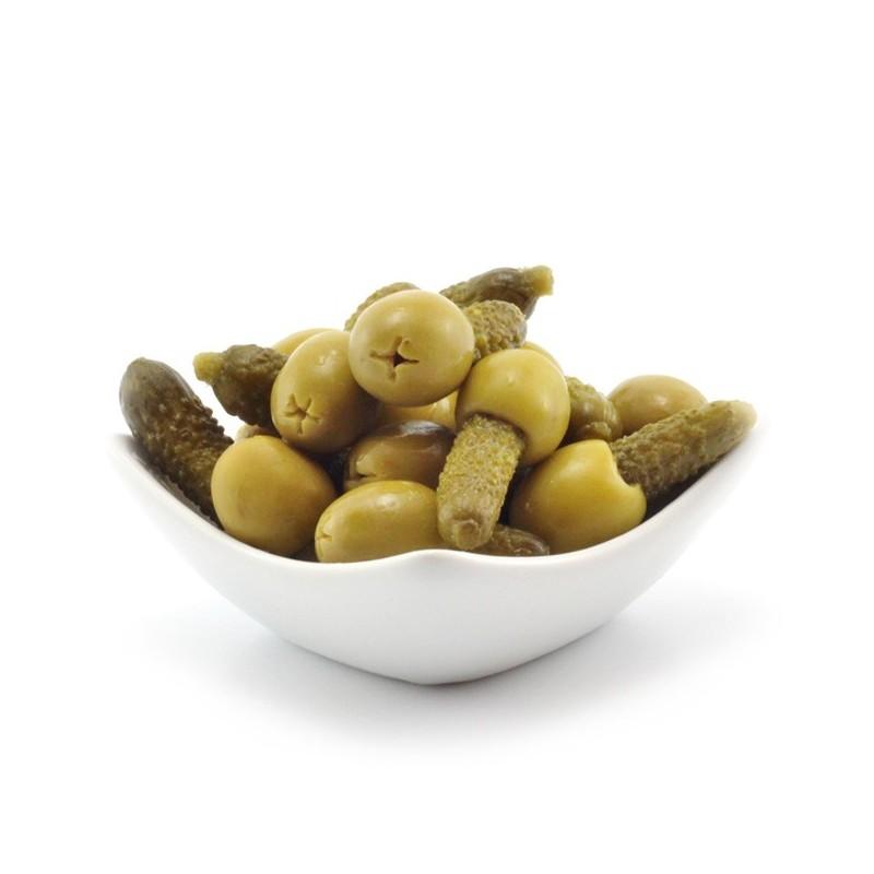 Minikimbos - Aceitunas Rellenas de Pepinillos