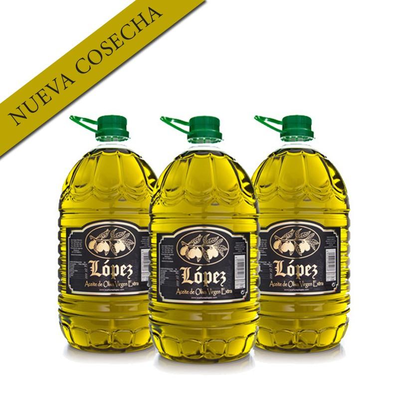 Caja 3 Botellas de % litros Aceite de Oliva Virgen Extra