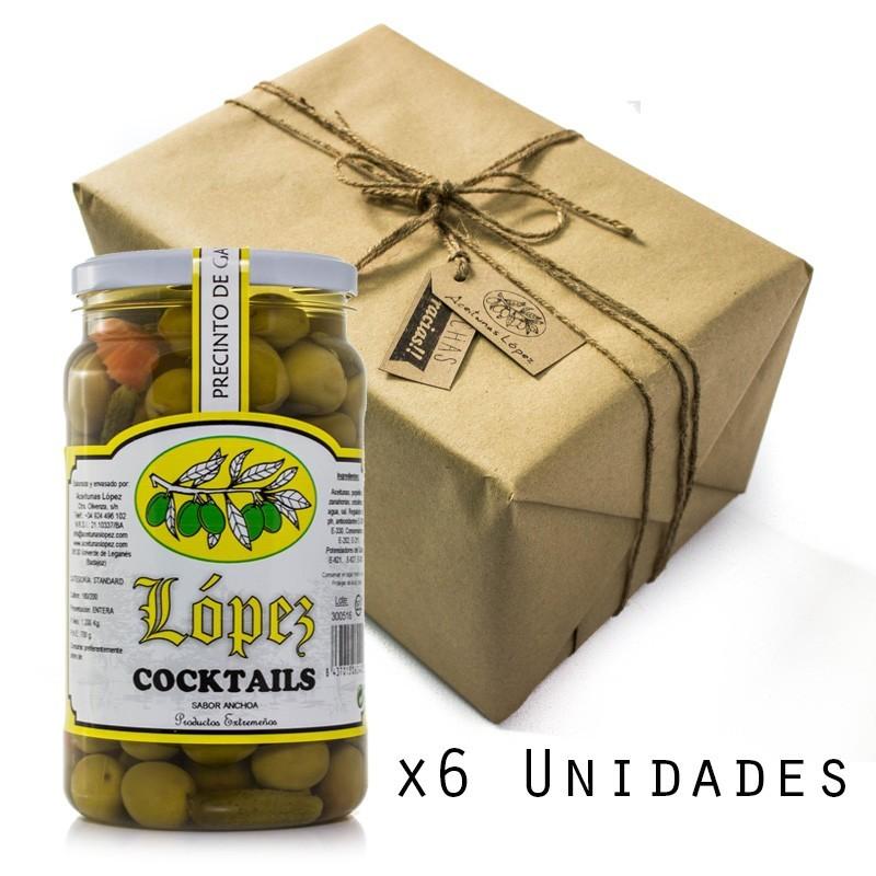 Pack 6 Unidades Cocktails Sabor Anchoa - Envase PET 1.200 g Peso Neto