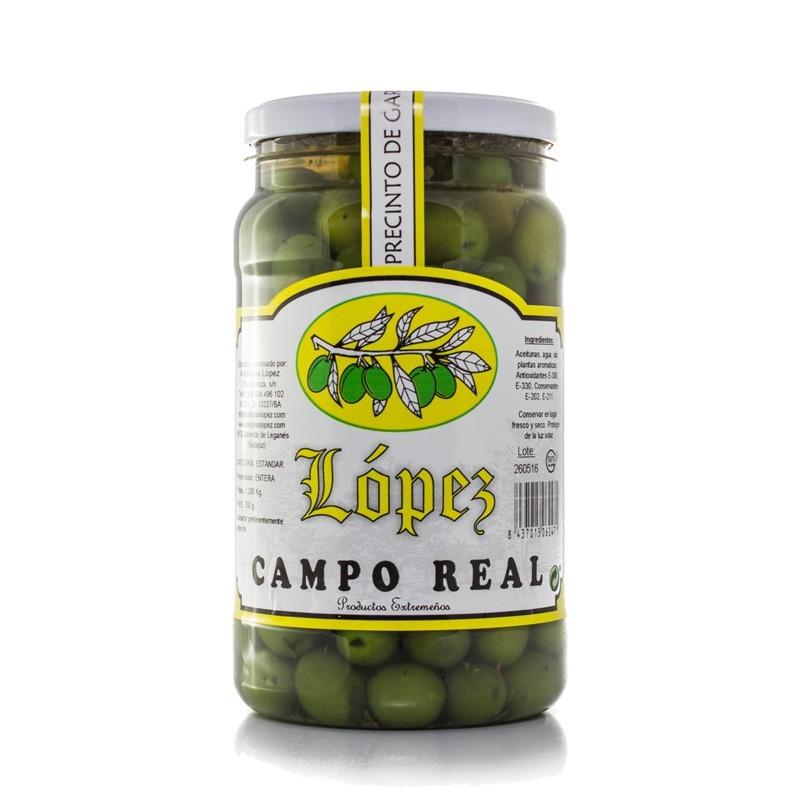 Aceitunas Campo Real Envase PET 1.200 g Peso Neto