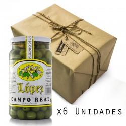 Pack 6 Unidades Aceituna Campo Real - Envase PET 1.200 g Peso Neto